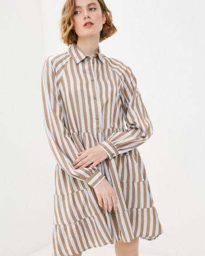 Коричневое платье-рубашка Imperial