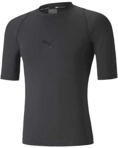 Силиконовая черная компрессионная футболка сетчатая Puma