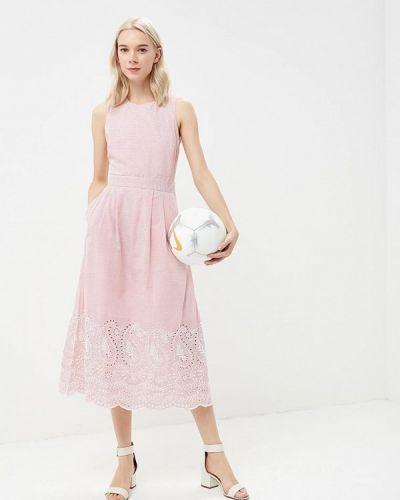 Красное платье весеннее Warehouse