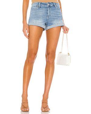 Джинсовые шорты с карманами на пуговицах Paige