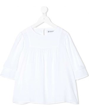 Расклешенная белая блузка Dondup Kids