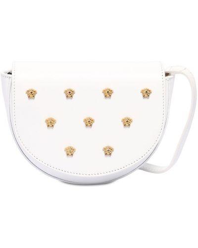 Biała torebka skórzana Versace