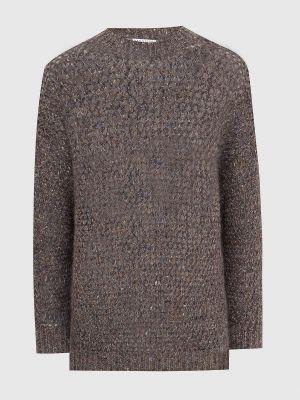 Коричневая свитер с люрексом Brunello Cucinelli