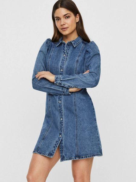 Синее джинсовое платье Noisy May