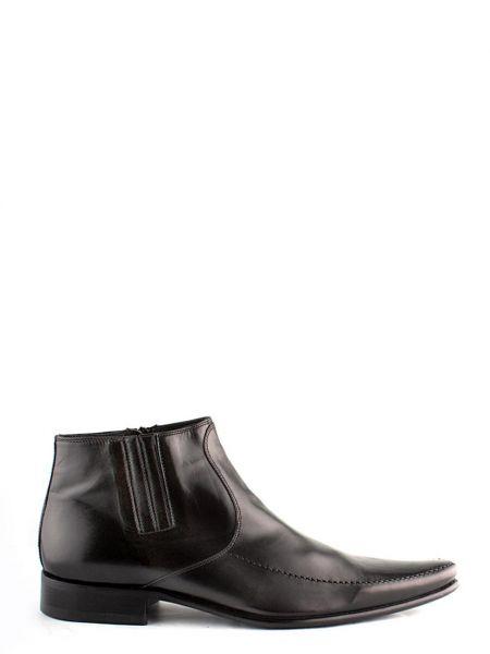 Черные кожаные полусапожки Mirko Ciccioli