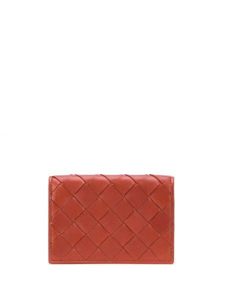 Кожаный кошелек с логотипом коричневый Bottega Veneta