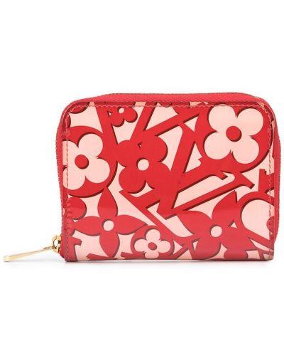 Różowy portfel skórzany Louis Vuitton