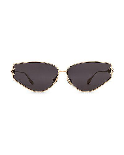 Серые солнцезащитные очки металлические очищающие Dior