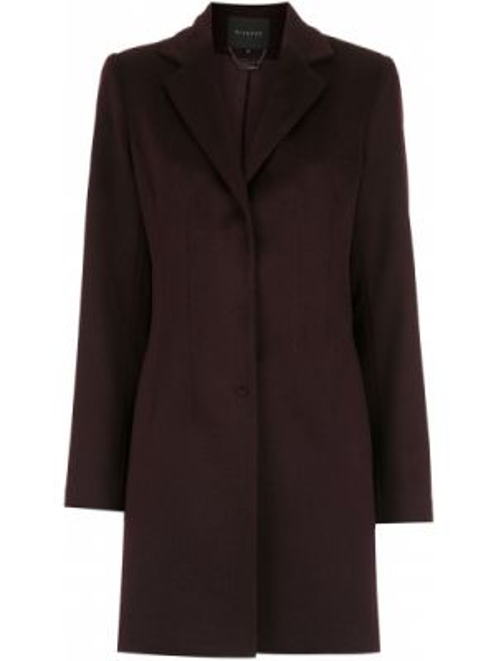Красное шерстяное длинное пальто Alcaçuz