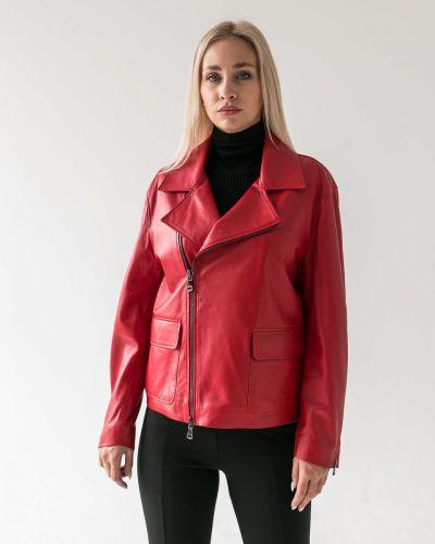 Кожаная куртка - красная Rozetka