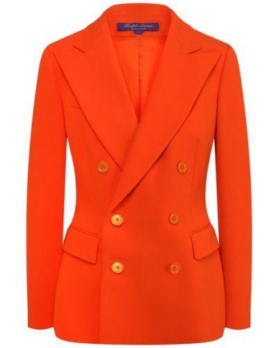 Шерстяной пиджак - оранжевый Ralph Lauren