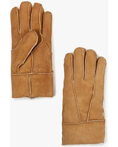 Бежевые кожаные перчатки Carpisa