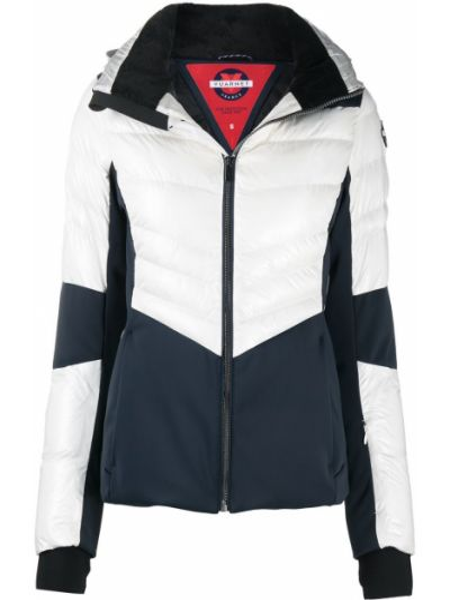 Белая спортивная куртка на молнии с капюшоном Vuarnet