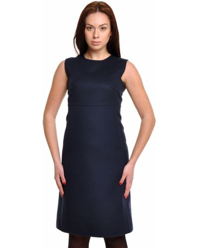 Шерстяное платье - синее Bally