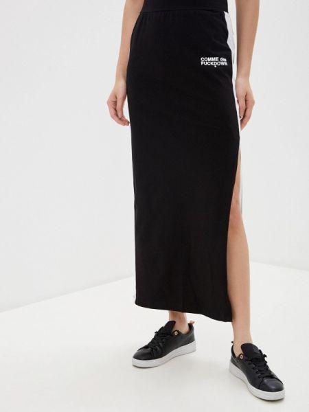 Черная юбка карандаш с рукавом 3/4 Comme Des Fuckdown