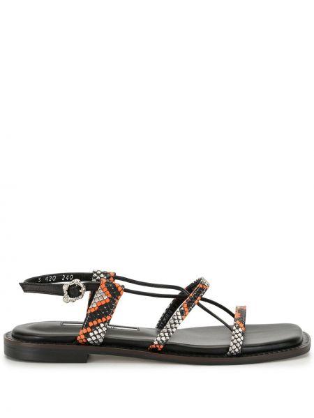 Кожаные черные сандалии с пряжкой на каблуке Yuul Yie