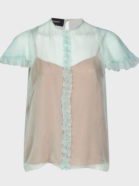 Бежевая шелковая блузка Rochas