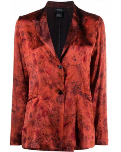 Шелковый красный пиджак с карманами Avant Toi