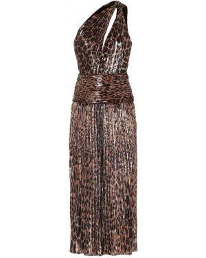 Вечернее платье леопардовое с принтом Saint Laurent