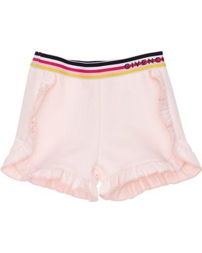 Хлопковые розовые шорты на резинке Givenchy