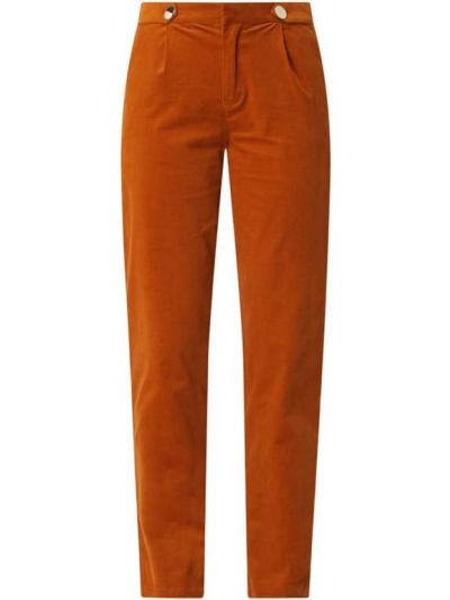 Spodnie sztruksowe - brązowe Saint Tropez