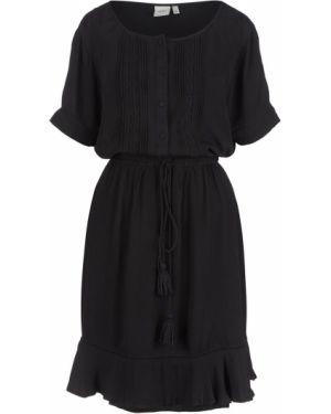 Платье мини черное свободного кроя Ichi