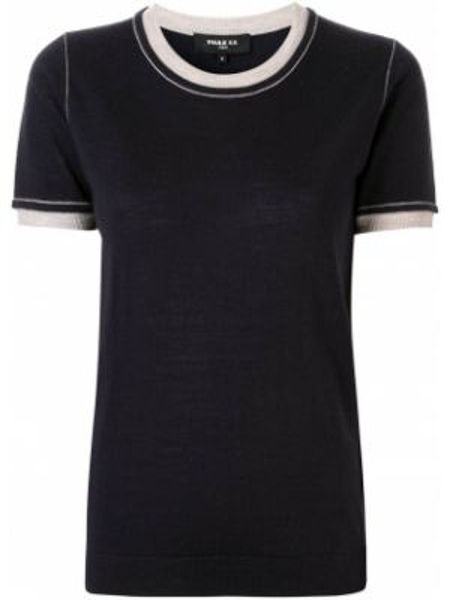 T-shirt niebieski wełniany Paule Ka