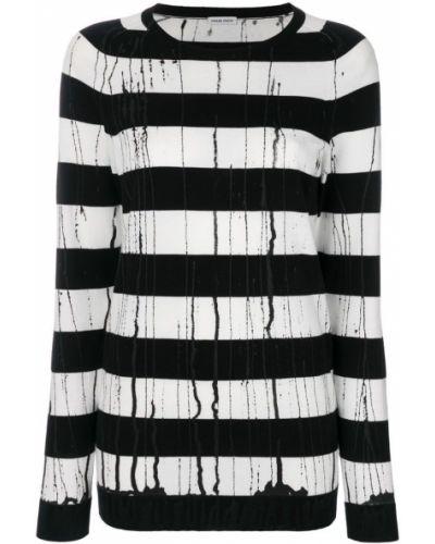 Белый свитер черно-белый Tomas Maier