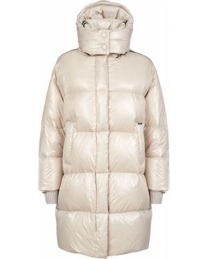 Куртка из полиэстера - бежевая Marco Del Forte