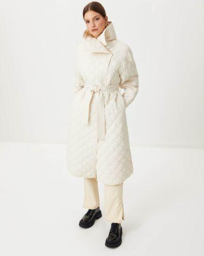 Бежевое пальто длинное Sela