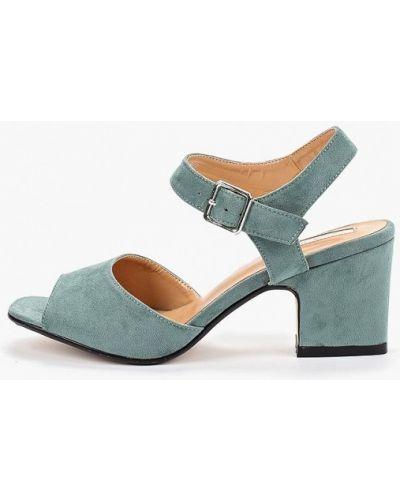 Босоножки на каблуке зеленый Inario