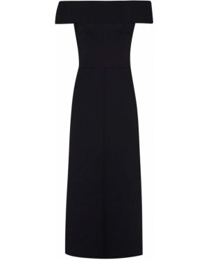 Платье миди - черное Victoria Beckham