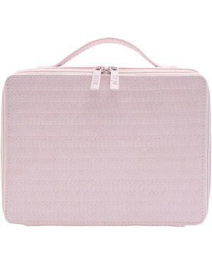 Różowa kosmetyczka skórzana Beis