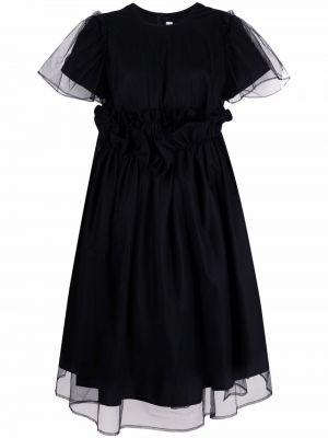 Расклешенное черное платье миди из фатина Comme Des Garçons Noir Kei Ninomiya