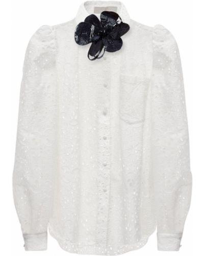 Рубашка с карманами - белая Elie Saab