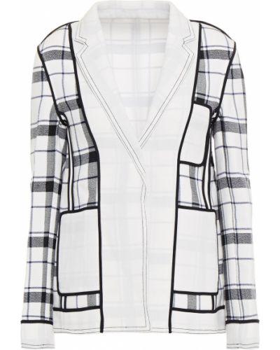 Хлопковый белый пиджак с карманами Acne Studios