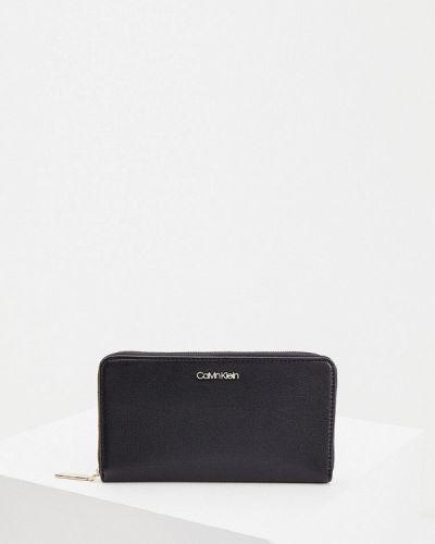 Черный кожаный кошелек Calvin Klein
