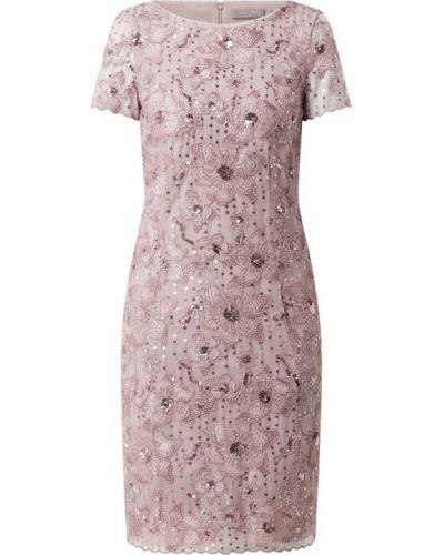 Różowa sukienka koktajlowa z cekinami tiulowa Christian Berg Cocktail