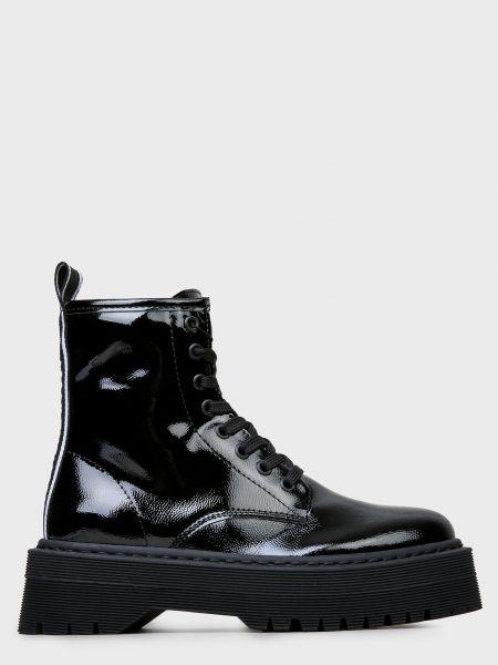 Кожаные черные ботинки на платформе Armani Exchange
