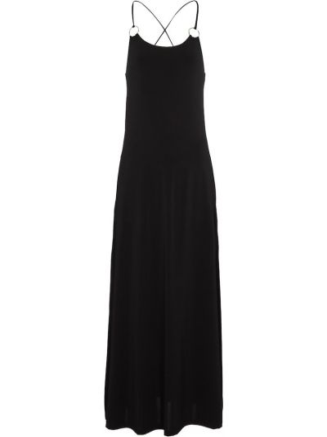 Трикотажное черное платье макси стрейч Max Mara