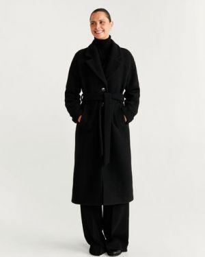 Пальто шерстяное с воротником Mango