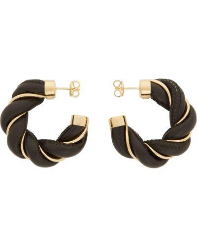 Кожаные серьги - золотые Bottega Veneta