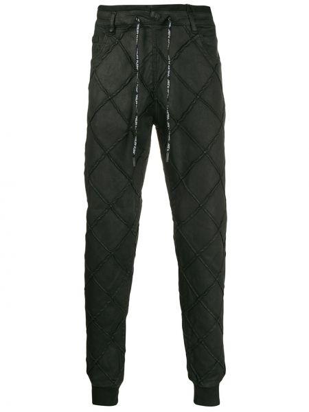 Czarne joggery bawełniane pikowane Philipp Plein