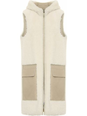 Бежевая кожаная куртка с подкладкой Loro Piana