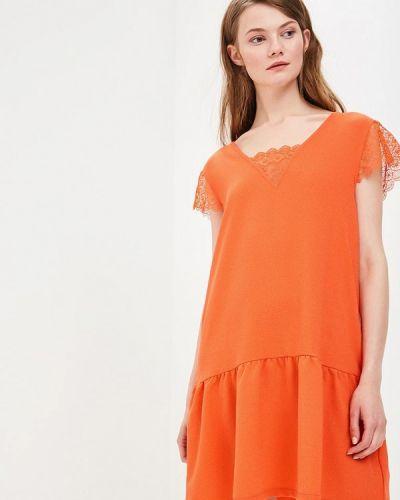 Оранжевое платье весеннее Sweewe