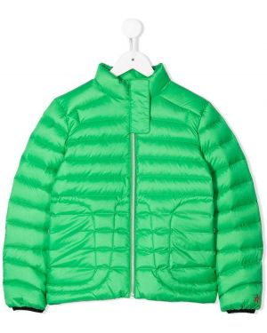 Zielona kurtka pikowana z długimi rękawami Perfect Moment Kids