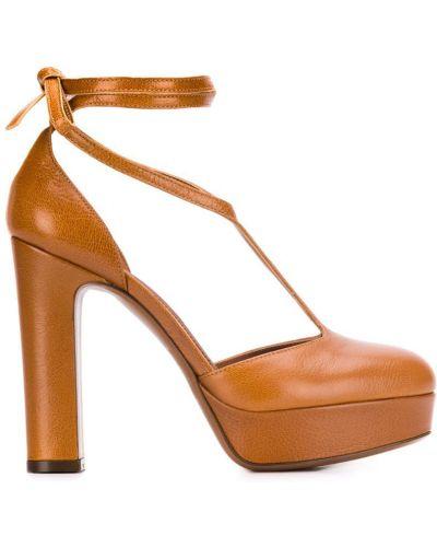 Коричневые туфли-лодочки на каблуке L'autre Chose