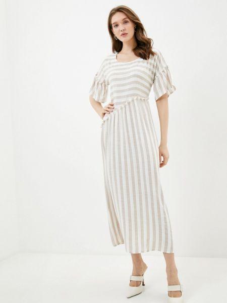 Бежевое повседневное платье Dizzyway