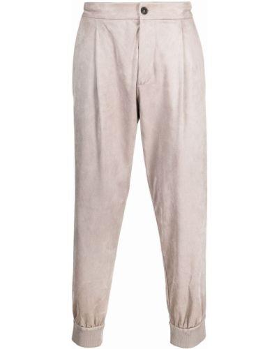 Spodnie zamszowe Giorgio Armani