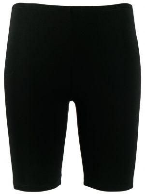 Облегающие черные спортивные шорты Paco Rabanne